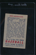 Load image into Gallery viewer, 1951 Bowman  17  Pete Castiglione   G 11812