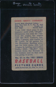 1951 Bowman  21  George Stir   G 11813