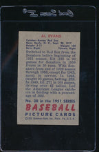 Load image into Gallery viewer, 1951 Bowman  38  Al Evans   VG-EX 11825