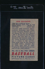 Load image into Gallery viewer, 1951 Bowman  63 Bob Dillinger  G 11966