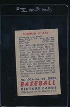 Load image into Gallery viewer, 1951 Bowman  100 Sherman Lollar  EX 12004
