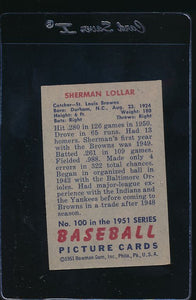 1951 Bowman  100 Sherman Lollar  EX 12004