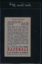 Load image into Gallery viewer, 1951 Bowman  115 Steve Gromek  VG-EX 12020