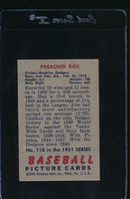 Load image into Gallery viewer, 1951 Bowman  118 Preacher Roe  EX 12026