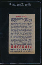 Load image into Gallery viewer, 1951 Bowman  119 Eddie Joost  VG 12030