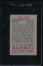 Load image into Gallery viewer, 1951 Bowman  119 Eddie Joost  EX 12031