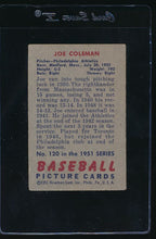 Load image into Gallery viewer, 1951 Bowman  120 Joe Coleman  G 12034