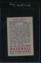 Load image into Gallery viewer, 1951 Bowman  123 Howie Judson  VG 12045