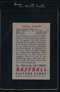 1951 Bowman  123 Howie Judson  VG 12050