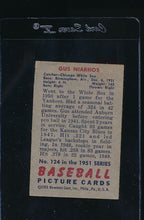 Load image into Gallery viewer, 1951 Bowman  124 Gus Niarhos  G 12052