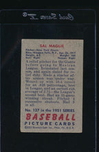 Load image into Gallery viewer, 1951 Bowman  127 Sal Maglie  G 12065