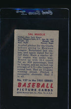 Load image into Gallery viewer, 1951 Bowman  127 Sal Maglie  G 12067
