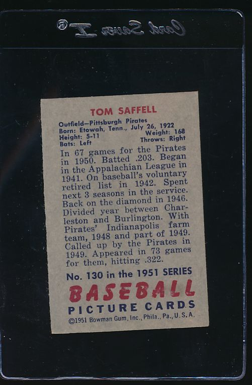 1951 Bowman  129 Matt Batts  VG 12079