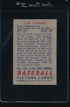 Load image into Gallery viewer, 1951 Bowman  131 Cliff Chambers  G 12087