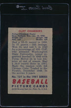 Load image into Gallery viewer, 1951 Bowman  131 Cliff Chambers  VG-EX 12088
