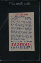 Load image into Gallery viewer, 1951 Bowman  131 Cliff Chambers  VG-EX 12089