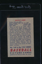 Load image into Gallery viewer, 1951 Bowman  139 Doyle Lade  VG 12098