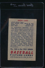 Load image into Gallery viewer, 1951 Bowman  140 Eddie Lake  G 12100