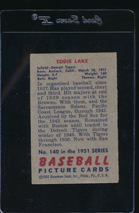 1951 Bowman  140 Eddie Lake  G/VG 12101
