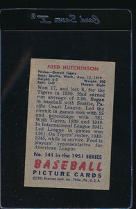 1951 Bowman  141 Fred Hutchinson  G 12103