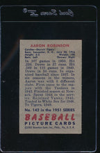 Load image into Gallery viewer, 1951 Bowman  142 Aaron Robinson  EX 12104