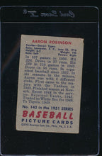 Load image into Gallery viewer, 1951 Bowman  142 Aaron Robinson  F 12106
