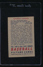 Load image into Gallery viewer, 1951 Bowman  148 Granny Hamner  EX 12111