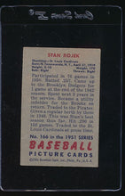 Load image into Gallery viewer, 1951 Bowman  166 Stan Rojek (ST) VG-EX (ST) 12113