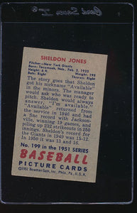 1951 Bowman  199 Sheldon Jones  VG-EX 12119