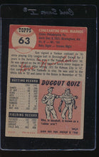 Load image into Gallery viewer, 1953 Topps  63 Gus Niarhos  VG-EX 12130