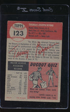 Load image into Gallery viewer, 1953 Topps  123 Tommy Byrne  VG 12139