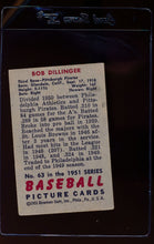 Load image into Gallery viewer, 1951 Bowman  63 Bob Dillinger   VG 12301