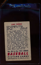 Load image into Gallery viewer, 1951 Bowman  83 Carl Scheib   P 12308