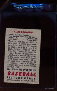 1951 Bowman  109 Allie Reynolds   EX 12310