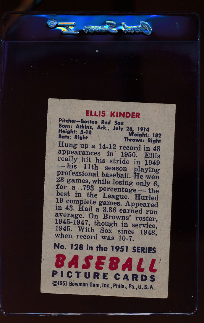 1951 Bowman  128 Ellis Kinder   G/VG 12312