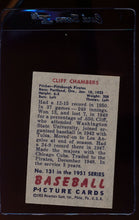 Load image into Gallery viewer, 1951 Bowman  131 Cliff Chambers   EX-MT 12315