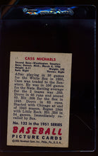 Load image into Gallery viewer, 1951 Bowman  132 Cass Michaels   EX 12316