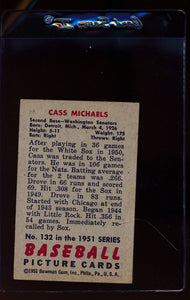 1951 Bowman  132 Cass Michaels   EX 12316