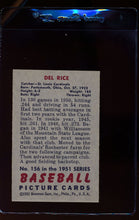 Load image into Gallery viewer, 1951 Bowman  156 Del Rice   VG 12321