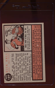 1962 Topps  189A Dick Hall/Green Tint  EX 12511