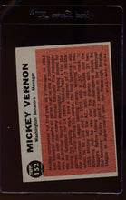 Load image into Gallery viewer, 1962 Topps  152 Mickey Vernon MG  VG-EX 12514
