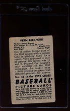 Load image into Gallery viewer, 1952 Bowman  48 Vern Bickford  G 12621