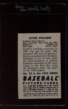 Load image into Gallery viewer, 1952 Bowman  57 Clyde Vollmer  EX 12624