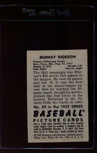 1952 Bowman  59 Murry Dickson  EX 12625