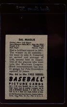 Load image into Gallery viewer, 1952 Bowman  66 Sal Maglie  VG-EX 12629
