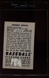 1952 Bowman  67 Johnny Groth  P 12630