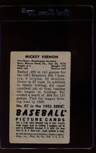 Load image into Gallery viewer, 1952 Bowman  87 Mickey Vernon  G 12635