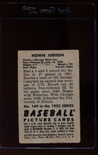 Load image into Gallery viewer, 1952 Bowman  149 Howie Judson  G 12653