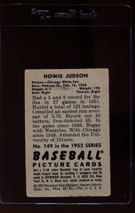 1952 Bowman  149 Howie Judson  G 12653