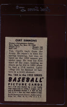 Load image into Gallery viewer, 1952 Bowman  184 Curt Simmons  VG-EX 12664